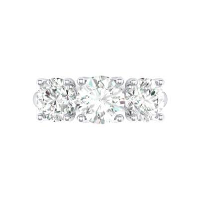 V Basket Trilogy Diamond Engagement Ring (1.96 CTW) Top Flat View