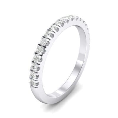 Fishtail Pave Crystals Ring (0.29 Carat)