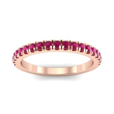 Fishtail Pave Ruby Ring (0.38 Carat)