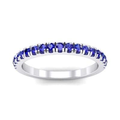 Fishtail Pave Blue Sapphire Ring (0.38 Carat)