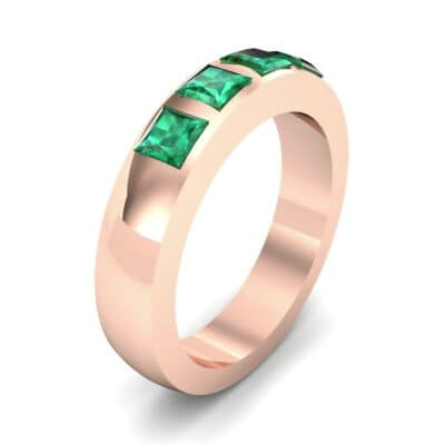 Quattro Princess-Cut Emerald Ring (0.88 Carat)