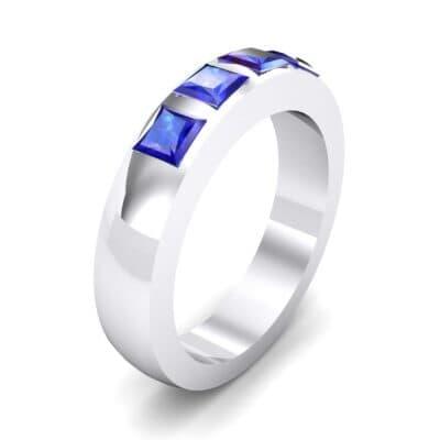Quattro Princess-Cut Blue Sapphire Ring (0.88 Carat)