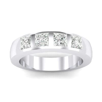 Quattro Princess-Cut Crystals Ring
