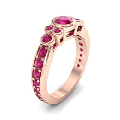 Bezel Accent Ruby Engagement Ring (1.43 Carat)