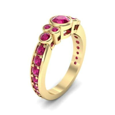 Bezel Accent Ruby Engagement Ring (1.43 Carat)