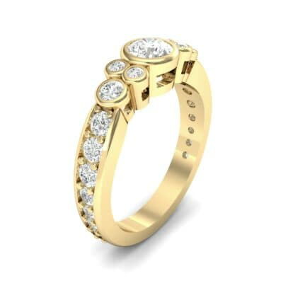 Bezel Accent Diamond Engagement Ring (1.12 Carat)