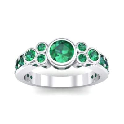 Bezel Accent Emerald Engagement Ring (1.43 Carat)