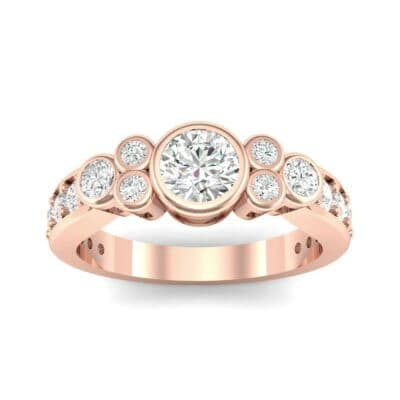 Bezel Accent Diamond Engagement Ring (1.12 Carat)