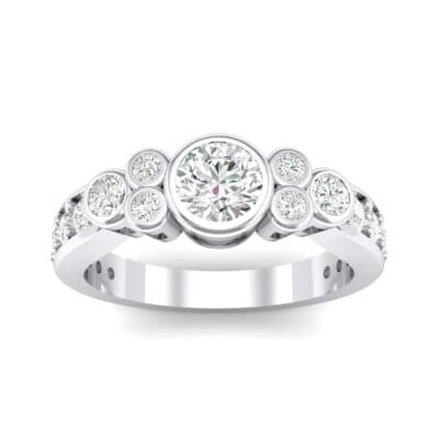 Bezel Accent Crystals Engagement Ring (1.12 Carat)