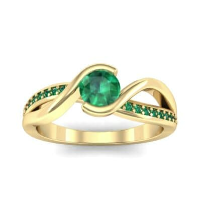 Split Band Emerald Bypass Engagement Ring (0.55 Carat)