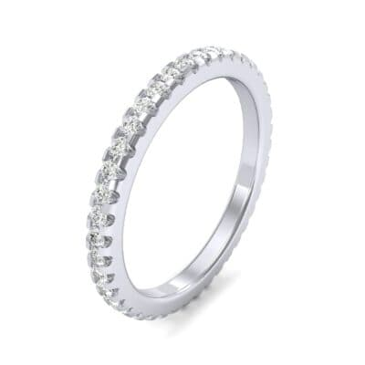 Thin French Pave Diamond Eternity Ring (0.42 Carat)