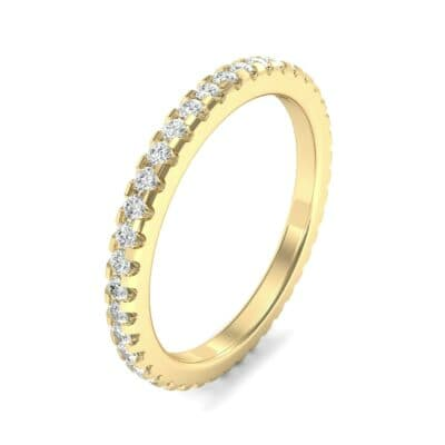Thin French Pave Diamond Eternity Ring (0.42 Carat)