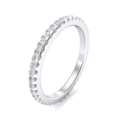 Thin French Pave Crystal Eternity Ring (0.42 CTW)