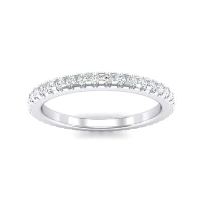Thin French Pave Crystals Eternity Ring (0.42 Carat)