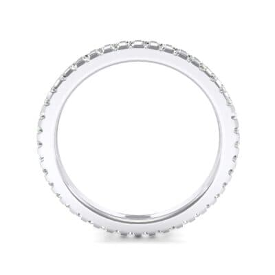 Thin French Pave Crystal Eternity Ring (0.42 CTW) Side View