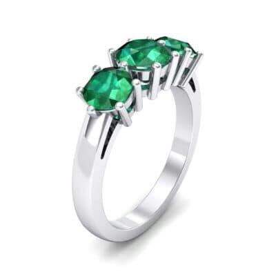 Square Basket Trilogy Emerald Engagement Ring (1.7 Carat)