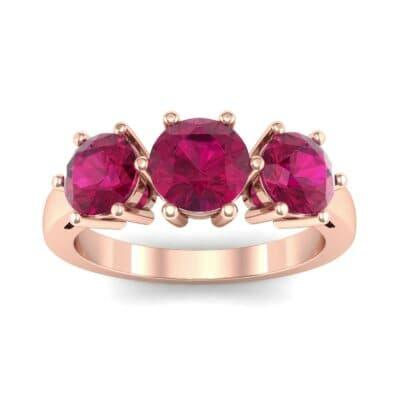 Square Basket Trilogy Ruby Engagement Ring (1.7 Carat)