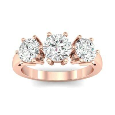 Square Basket Trilogy Diamond Engagement Ring (1.56 Carat)