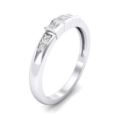 Princess-Cut Trio and Pave Diamond Ring (0.31 Carat)
