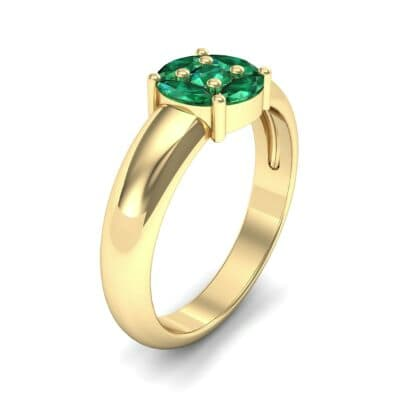 Navette Halo Emerald Engagement Ring (0.65 CTW) Perspective View