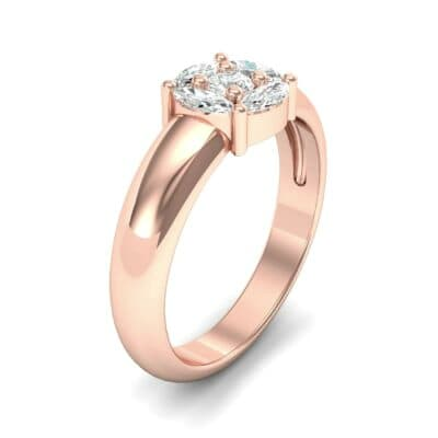 Navette Halo Diamond Engagement Ring (0.65 CTW)