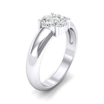 Navette Halo Diamond Engagement Ring (0.65 CTW) Perspective View