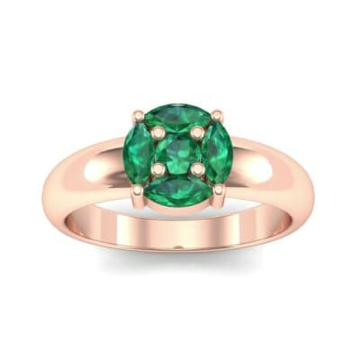 Navette Halo Emerald Engagement Ring (0.65 Carat)