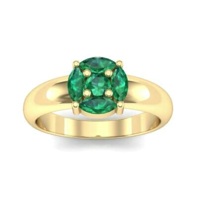 Navette Halo Emerald Engagement Ring (0.65 CTW) Top Dynamic View