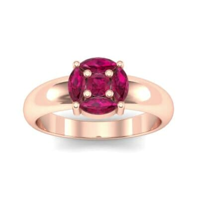 Navette Halo Ruby Engagement Ring (0.65 CTW) Top Dynamic View