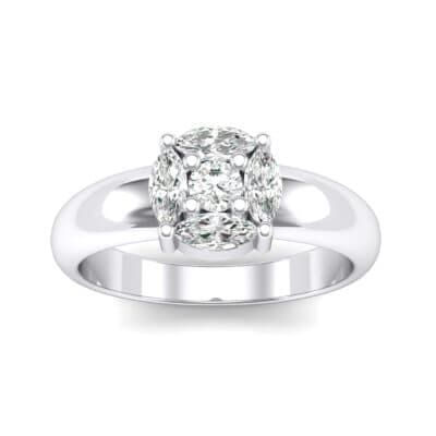 Navette Halo Diamond Engagement Ring (0.65 CTW) Top Dynamic View