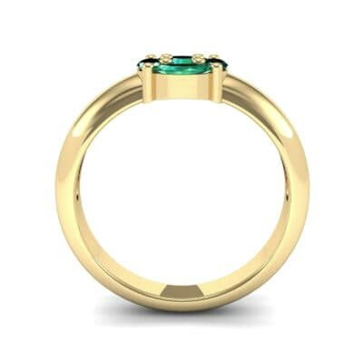 Navette Halo Emerald Engagement Ring (0.65 CTW) Side View