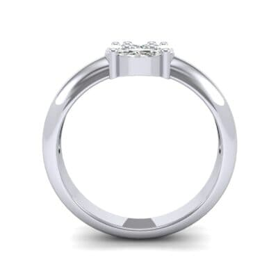 Navette Halo Diamond Engagement Ring (0.65 CTW) Side View