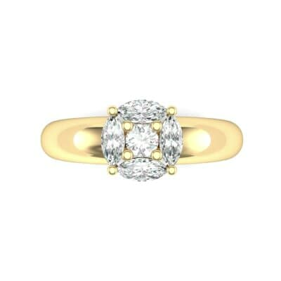 Navette Halo Diamond Engagement Ring (0.65 CTW) Top Flat View