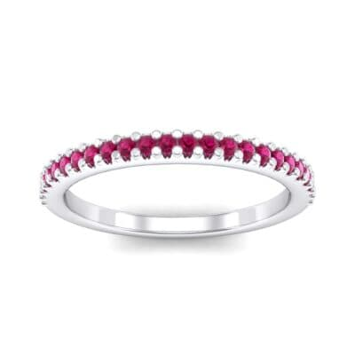Twinkle Fishtail Pave Ruby Ring (0.17 Carat)
