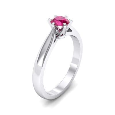 Cathedral Tulip Six-Prong Solitaire Ruby Engagement Ring (0.7 Carat)