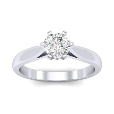 Cathedral Tulip Six-Prong Solitaire Diamond Engagement Ring (0.45 Carat)