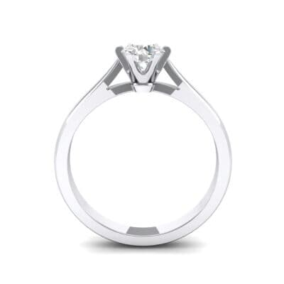 Cathedral Tulip Six-Prong Solitaire Crystal Engagement Ring (0.45 CTW) Side View