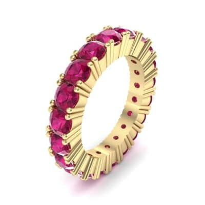 Aria Tapered Ruby Eternity Ring (2.2 Carat)