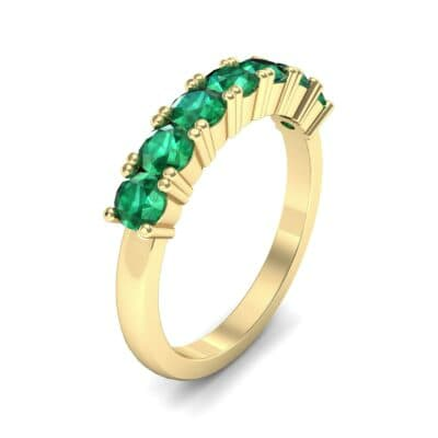 Luxe Seven-Stone Emerald Ring (0.77 Carat)
