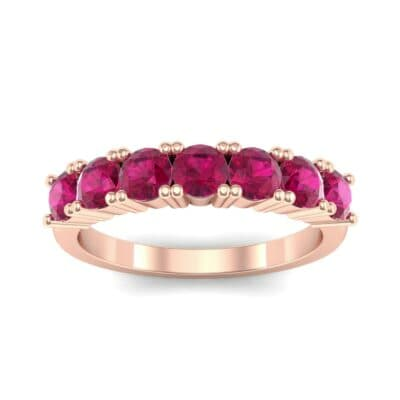 Luxe Seven-Stone Ruby Ring (0.77 Carat)