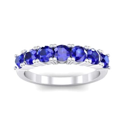 Luxe Seven-Stone Blue Sapphire Ring (0.77 Carat)