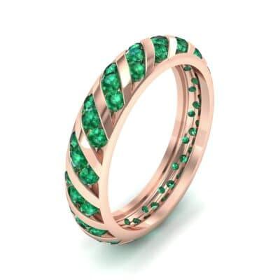 Diagonal Channel-Set Emerald Eternity Ring (1.26 Carat)