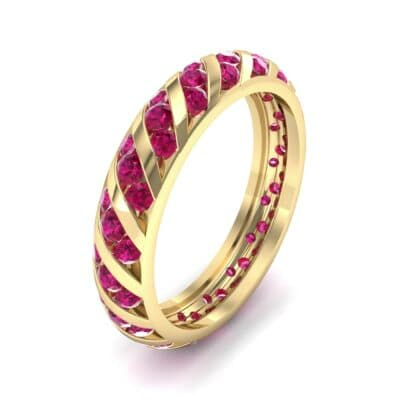 Diagonal Channel-Set Ruby Eternity Ring (1.26 Carat)