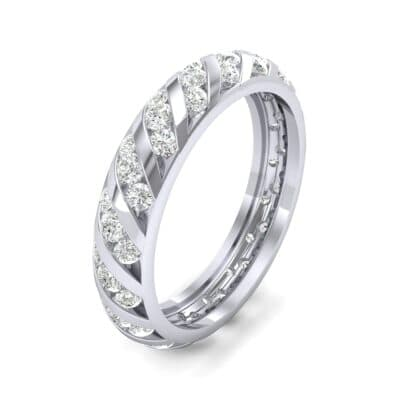 Diagonal Channel-Set Diamond Eternity Ring (1.26 CTW) Perspective View