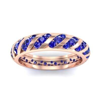Diagonal Channel-Set Blue Sapphire Eternity Ring (1.26 CTW) Top Dynamic View