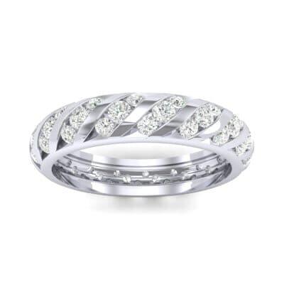 Diagonal Channel-Set Diamond Eternity Ring (1.26 CTW) Top Dynamic View