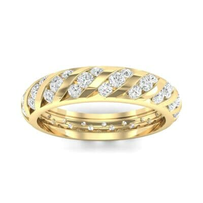 Diagonal Channel-Set Diamond Eternity Ring (1.26 Carat)
