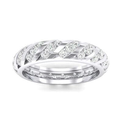 Diagonal Channel-Set Crystals Eternity Ring (1.26 Carat)