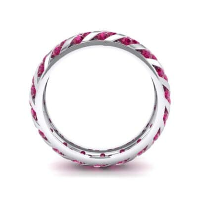 Diagonal Channel-Set Ruby Eternity Ring (1.26 CTW) Side View