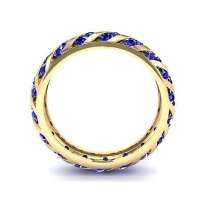 Diagonal Channel-Set Blue Sapphire Eternity Ring (1.26 CTW) Side View